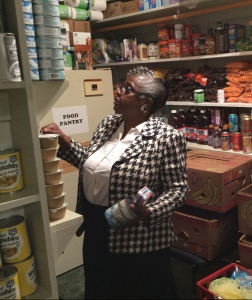 Pastor in Food Pantry